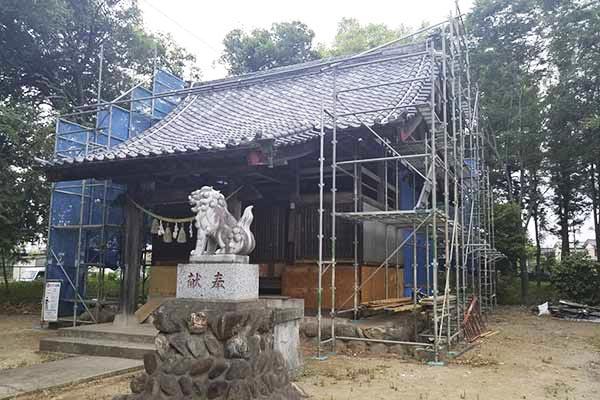 神社の修復